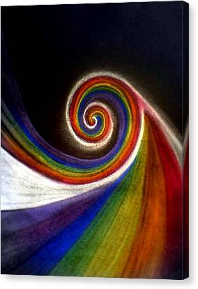 Colorswirl Of Creation Canvas Print