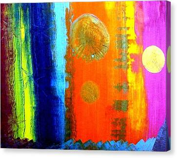 Canvas Print featuring the painting Colorz 1 by Piety Dsilva