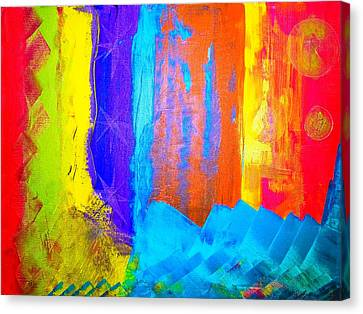 Canvas Print featuring the painting Colorz by Piety Dsilva