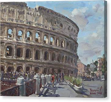 Colosseo Rome Canvas Print by Ylli Haruni