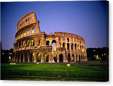 Colosseum At Night, Rome, Italy Canvas Print by Richard Nowitz