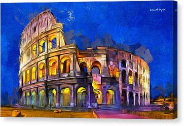 Colosseum - Da Canvas Print by Leonardo Digenio