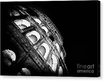 Colosseum In Rome By Night Canvas Print by Stefano Senise