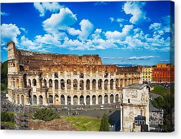 Colosseum Landscape Canvas Print by Stefano Senise