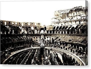 Colosseum Canvas Print by Sarah Jean Sylvester