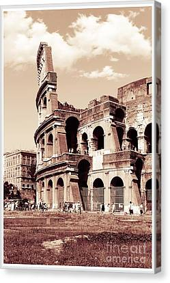 Colosseum Toned Sepia Canvas Print by Stefano Senise
