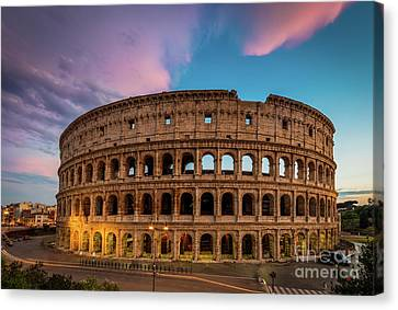 Colosseum Twilight Canvas Print by Inge Johnsson