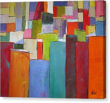 Canvas Print featuring the painting Colour Block7 by Chris Hobel