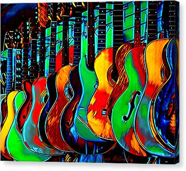 Canvas Print featuring the digital art Colour Of Music by Pennie McCracken