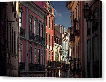 Colourful Architecture In Lisbon Portugal  Canvas Print