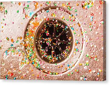 Sink Hole Canvas Print - Colourful Confetti In Drain by Jorgo Photography - Wall Art Gallery