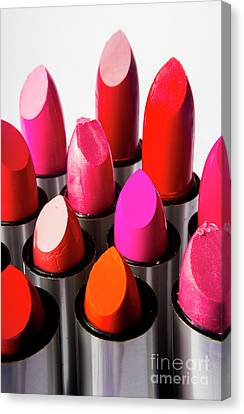 Pink Lipstick Canvas Print - Colourful Cosmetic Still Life by Jorgo Photography - Wall Art Gallery