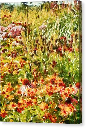 Colourful Cottage Garden Canvas Print by Dorothy Berry-Lound