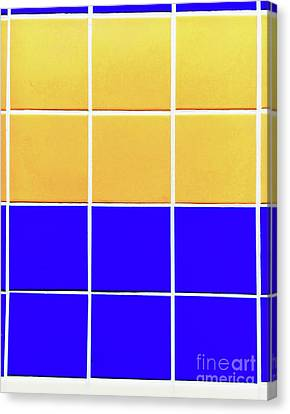 Ceramics Canvas Print - Colourful Tiles Background by Tom Gowanlock