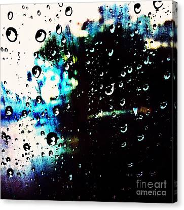 Colours In The Rain Canvas Print by Tiffany D Randle