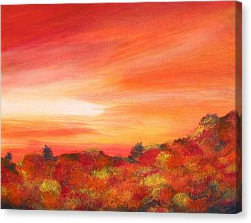 Colours Of Autumn Canvas Print by Jesslyn Fraser