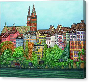 Colours Of Basel, Switzerland Canvas Print by Lisa Lorenz