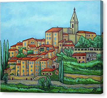 Colours Of Crillon-le-brave, Provence Canvas Print by Lisa Lorenz