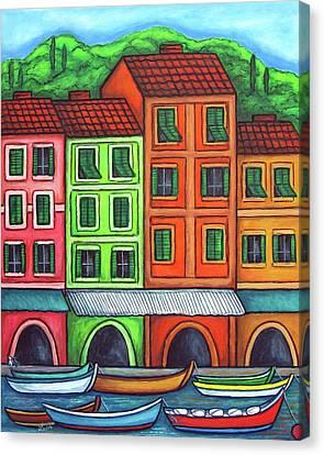 Colours Of Liguria Canvas Print by Lisa  Lorenz