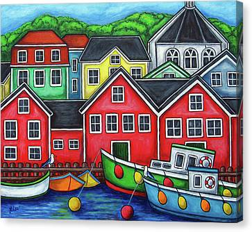 Colours Of Lunenburg Canvas Print