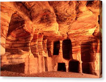 Colours Of Petra Canvas Print by Paul Cowan