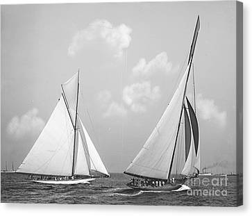 Columbia And Shamrock Race The Americas Cup 1899 Canvas Print by Padre Art