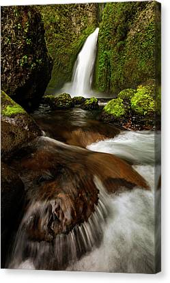 Canvas Print featuring the photograph Columbia Cleft by Mike Lang