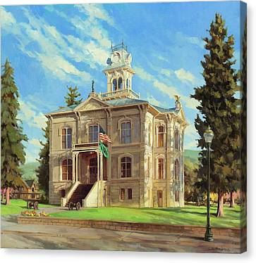 Historic Street Canvas Print - Columbia County Courthouse by Steve Henderson