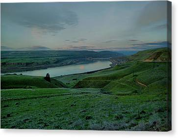 Canvas Print featuring the photograph Columbia Gorge In Early Spring by Jeff Swan