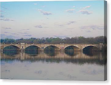 Canvas Print featuring the photograph Columbia Railroad Bridge - Philadelphia by Bill Cannon