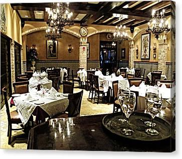 Columbia Restaurant Fine Dining Canvas Print
