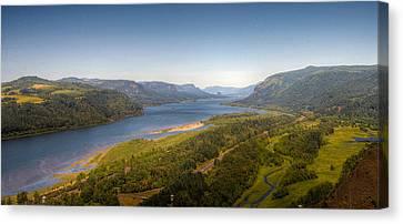 Columbia River Gorge  Canvas Print by Drew Castelhano