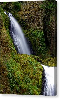Columbia River Gorge Falls 1 Canvas Print by Marty Koch