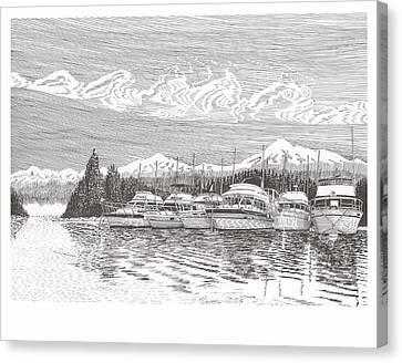 Columbia River Raft Up Canvas Print by Jack Pumphrey