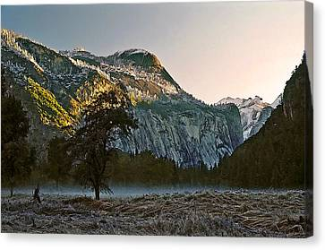 Columbia Rock Canvas Print by Larry Darnell