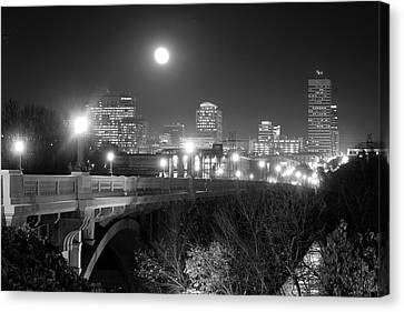 Columbia Skyline At Night Canvas Print