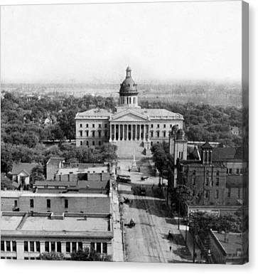 Columbia South Carolina - State Capitol Building - C 1905 Canvas Print by International  Images