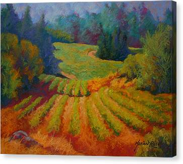 Columbia Valley Vineyard Canvas Print by Marion Rose
