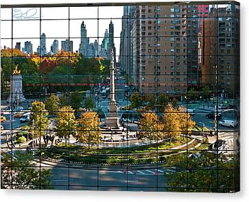 Columbus Circle Canvas Print by S Paul Sahm