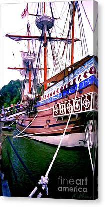 Columbus Day Celebration Canvas Print by Methune Hively