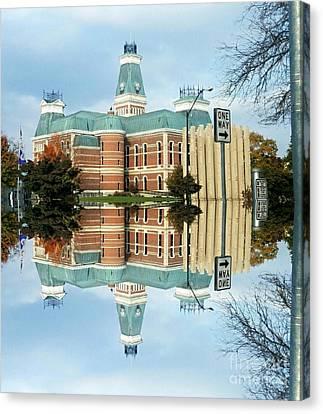 Columbus Indiana Flood Of 2008  Canvas Print by Scott D Van Osdol