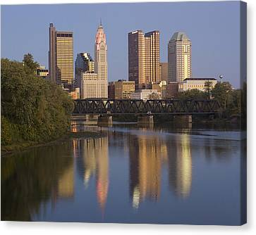Columbus Ohio Evening Canvas Print by Alan Raasch
