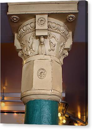 Column - Main Arcade - Pike Place Market Canvas Print by Nikolyn McDonald