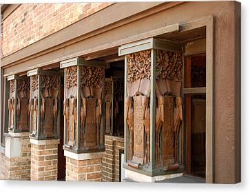 Columns At Frank Lloyd Wright Studio Canvas Print