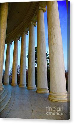 Columns At Jefferson Canvas Print
