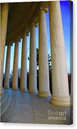 Columns At Jefferson Canvas Print by Megan Cohen