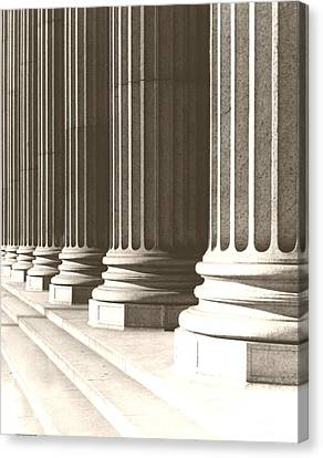 Columns Canvas Print by Daniel Napoli