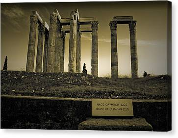 Columns Of The Olympian Zeus Canvas Print