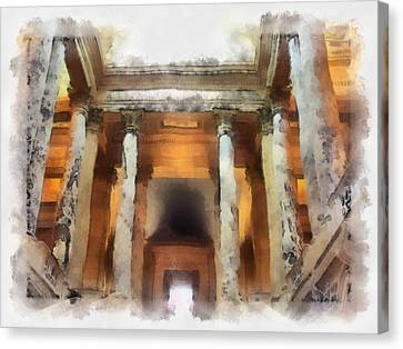 Columns Canvas Print by Paulette B Wright