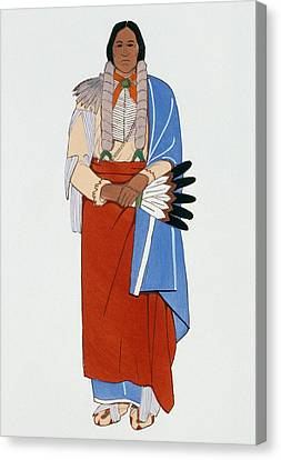 Comanche Chief, C1880 Canvas Print by Granger